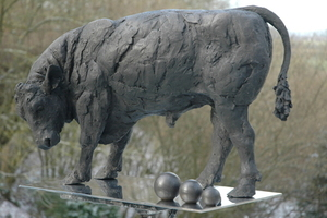 THE MORPETH BULL AN EDITION OF 3 BY JUDY BOYT BRONZE