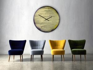 Unique hand painted wall glass and clocks