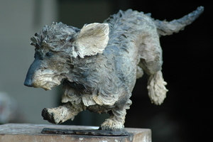 WIRE HAIRED DASCHUND BY JUDY BOYT BRONZE EDITION OF 3