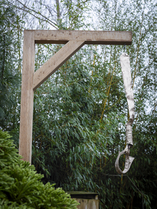 Noose collar Gallows (free standing)  edition of 5